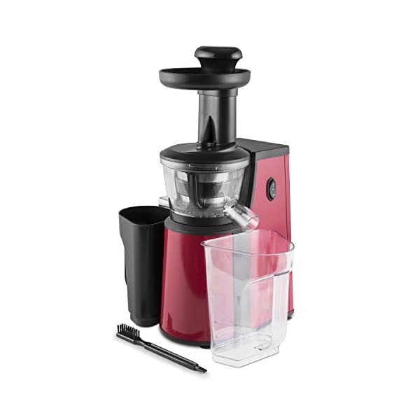 oneConcept Jimmie Andrews SlowJuicer Estrattore di Succhi 400W Rosso - 2020 -