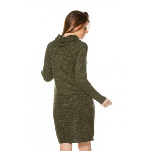 Princesse boutique - Robe pull VERTE col roulé Vert