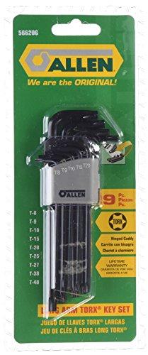 Allen 56620G 9-key Torx lang Arm Schlüssel Set -