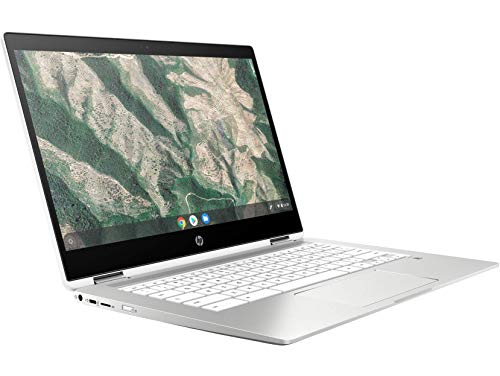 HP Chromebook 14b-ca0015TU x360 Thin and Light Touchscreen 14-inch HD Laptop (4GB/64GB SSD + 100 GB Cloud Storage/Chrome OS/Intel UHD Graphics), Natural Silver Image 3