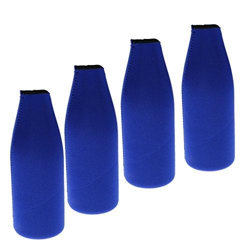 Bonarty 4X Flaschenkühler Aus Neopren Kühltaschen, Getränke Kühlen Ohne Strom Blau