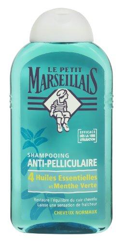 Le Petit Marseillais Shampoing Antipelliculaire Cheveux Normaux 4 Huiles Essentielles et Menthe Vert 250 ml