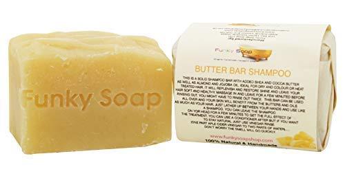 Funky Soap Champú Sólido de Mantequilla, 100% Natural Artesanal, 1 Barra de 120G