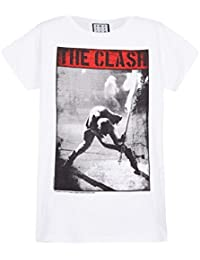 Amplified Official The Clash Calling - Vintage - Men's White T-Shirt