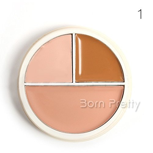 1pc 3 Colors Powder Foundation Skin Care Beauty Natural Makeup # 19481