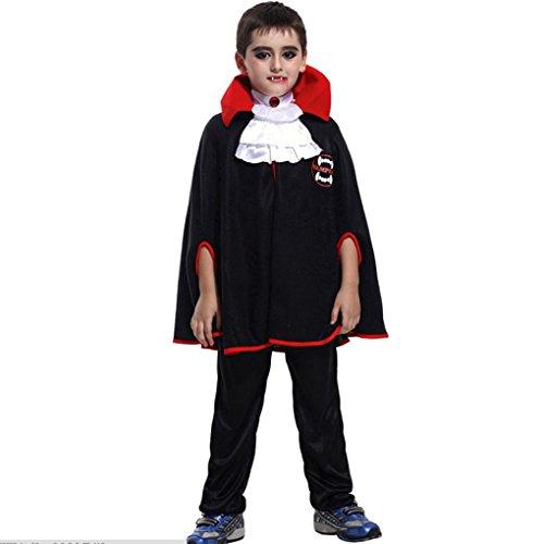 Halloween Schlechte Vampir-Kostüm Umhang mit Gebiss-Props Maskerade Kostüme ()