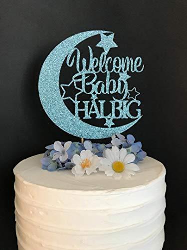 le Star Cake Topper Willkommen Baby Cake Topper Baby-Dusche-Dekor Mond und Sterne Baby Shower Star Cake Topper Mond ()