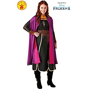 Rubie's Official Disney Frozen 2, Anna Deluxe Dress, Adults Costume, Size Ladies X-Small Uk 6-8