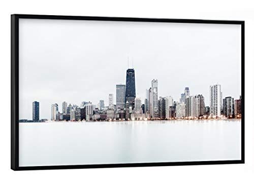 artboxONE Poster mit schwarzem Rahmen 30x20 cm Städte Windy City # 2