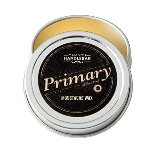 Medium Hold Schnurrbart-Wachs für Männer   Primary Schnurrbart-Wachs   Schnurrbart-Styling-Wachs   natürliche Inhaltsstoffe   1 Oz. Stoßfeste Edelstahldose