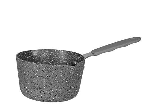Bialetti madame petra casseruola con 1 manico e 2 becchi, alluminio, grigio
