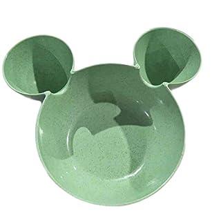 Kicode Weizenstroh Grid Design Separate Bowl Baby Plate Geschirr Geschirr Tray Cartoon Kreative