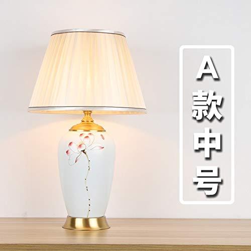 Lampada da tavolo in ceramica camera da letto lampada da comodino soggiorno decorazione della stanza modello decorazione creativa Una sezione media