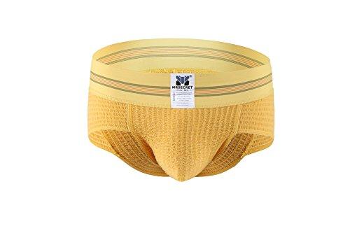 Mrsecret Herren-Unterwäsche aus Baumwolle D-Yellow
