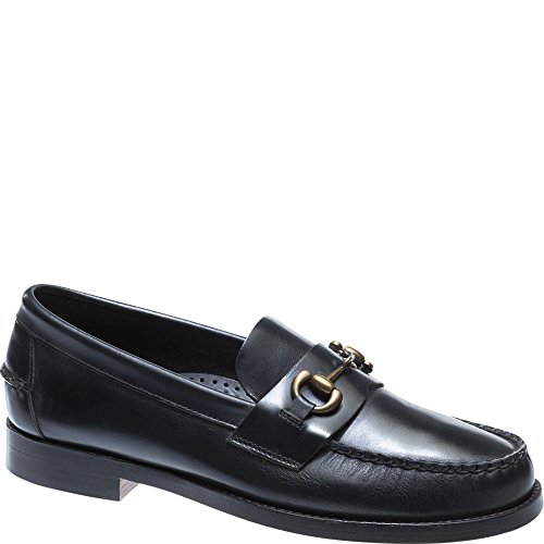 SEBAGO Mens Legacy Bit Mens Black Loafers With Buckle Leather Black