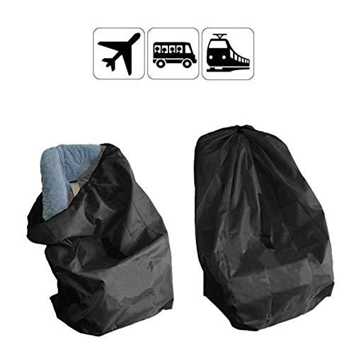 LTSWEET 2 Stück Schwarz Groß Transporttaschen Kinderwagen Flughafen Kinderwagen Reisetasche Wasserdicht Dauerhaft Kindersitz Tasche für Kinderwagen, Autositze, Rollstühle