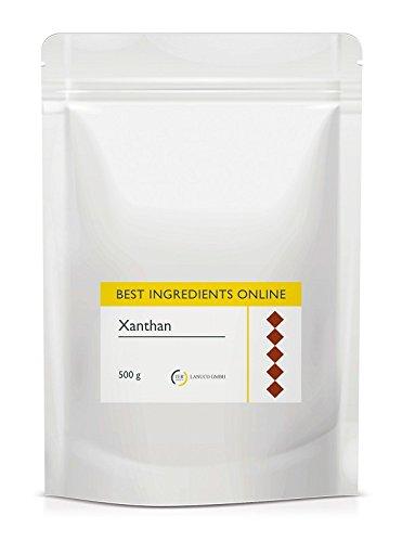Xanthan - 500g, Feines Premiumpulver in Lebensmittelqualität (E 415), Stabilisator, Bindemittel, Verdickungsmittel, Molekularküche, glutenfrei