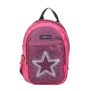 Elegant Pink & Purple Color School Bag (Medium, 15 Inches)
