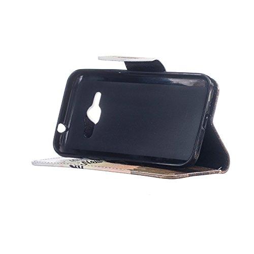 Cozy Hut® Samsung Galaxy J1 (2016) SM-J120F Housse, Ultra-mince Etui En Cuir PU Flip Cassette Intérieur Pour Cartes Pour Samsung Galaxy J1 (2016) SM-J120F New Mode Fine Folio Wallet/Portefeuille + Sta tour de transmission
