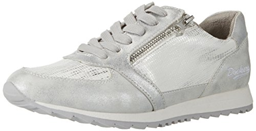 Dockers by Gerli 38ml205-680550, Sneakers Basses Femme Argent (Silber 550)