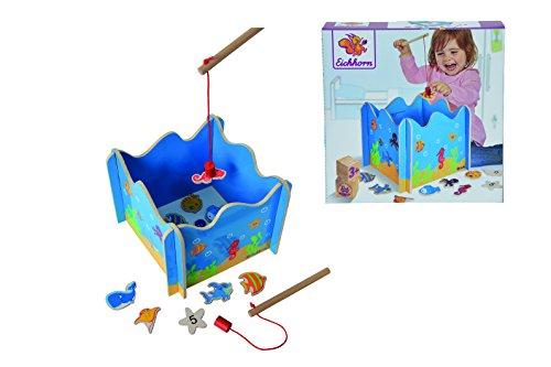 Eichhorn 100002089 - Angelspiel mit zwei Angeln, Holzspielzeug, Geschicklichkeit, ab 3 Jahren, 16 teilig