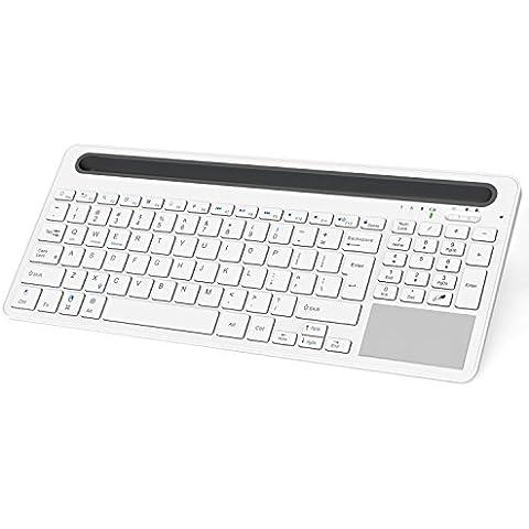 MoKo Bluetooth Tastiera (Layout Inglese), Multi-Device Dual-Channel