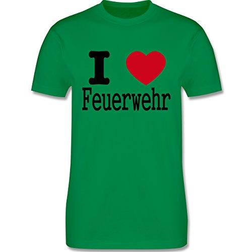 Feuerwehr - I Love Feuerwehr - Herren Premium T-Shirt Grün