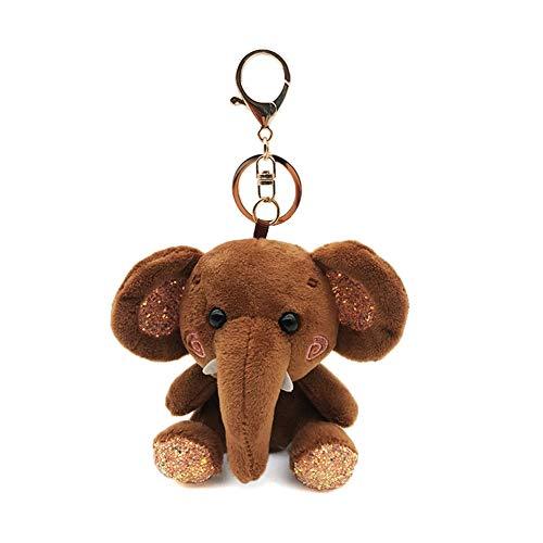 RIsxffp Mini Colgante Llavero Elefante de Peluche Muñeca Colgante Llavero Titular de...