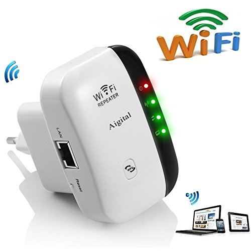 WLAN Repeater Wifi Range Extender 300Mbps Multifunktion Mini Wireless W-LAN Signal Booster Wireless Access Point 2.4GHz mit WPS Funktion Willigt IEEE802.11n/g/b (Wireless Wifi Booster)