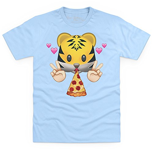 Official Two Tribes Emoji - Pizza Tiger T-Shirt, Herren Himmelblau
