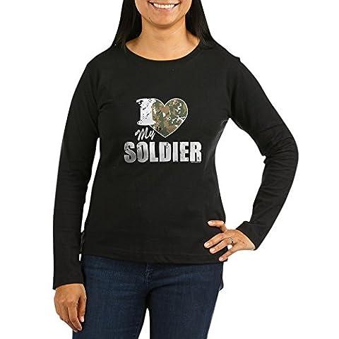 CafePress - I Heart My Soldier Women's Long Sleeve Dark
