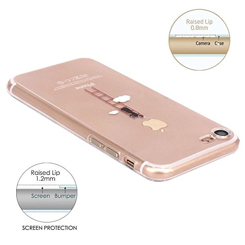 iPhone 7 / iPhone 8 Case, Walmark Amusing Whimsical Design Clear Bumper TPU Soft Case Rubber Silicone Skin Cover for iPhone 7 / iPhone 8 4.7inch- Stairs