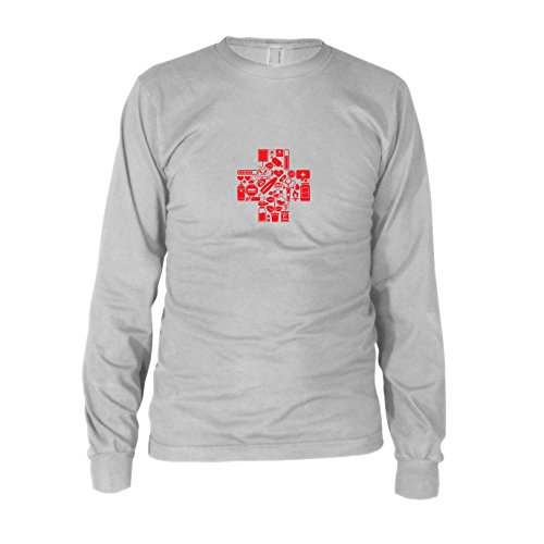 Medic Gamer - Herren Langarm T-Shirt, Größe: XXL, Farbe: weiß