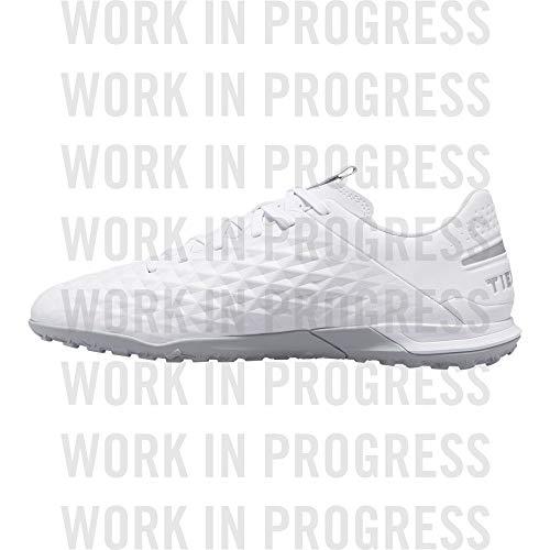 Nike Unisex-Erwachsene Tiempo Legend 8 Academy Tf Fußballschuhe, Weiß (White/Chrome/Pure Platinum 100), 42 EU