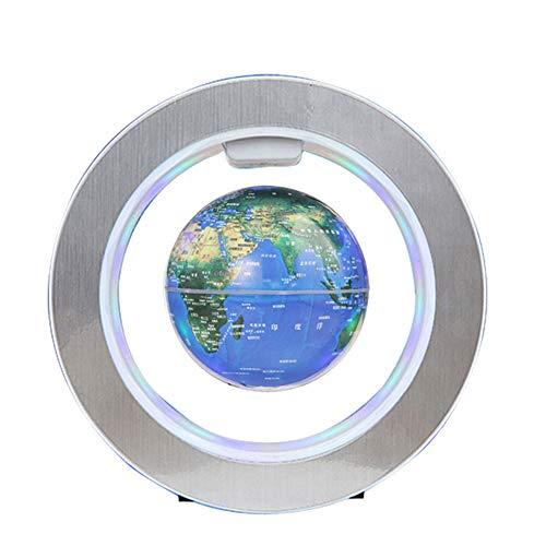 Maglev Globe O-Form Drehen Magnetschwebetechnik Weltkarte mit Touch Control & LED-Licht für Geografieunterricht und Geschenke