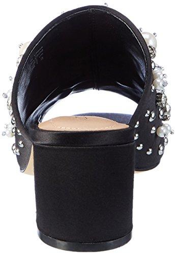 Aldo Pearls, Sandales Bout Ouvert Femme Noir (Black Satin 94)