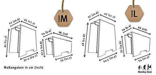 Stehschreibtisch MonKey Desk von ROOM IN A BOX - Large/Schwarz: Faltbares ergonomisches Stehpult, praktischer Ständer für Laptop, PC, Tablet und Monitor, klappbarer Standing Desk für den Schreibtisch - 5
