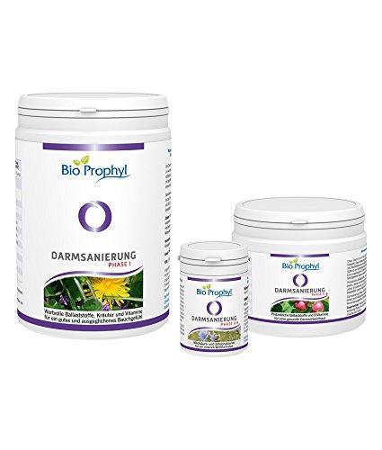 BioProphyl® Darmsanierung - Ballaststoffe, Kräuter, Vitamine, Mineralstoffe u. Milchsäurebakterien für Ihre Darmgesundheit - 2-monatige Kur inkl. Anleitung zur Darmreinigung u. Pflege - 100% vegan