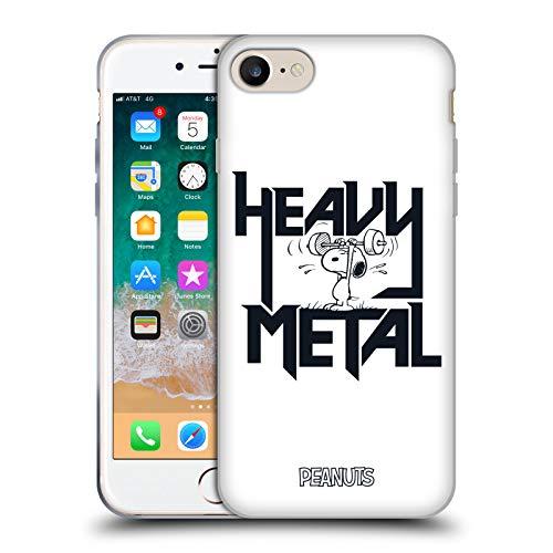 Offizielle Peanuts Snoopy Heavy Metal Rock T-Shirts Soft Gel Huelle kompatibel mit iPhone 7 / iPhone 8 -