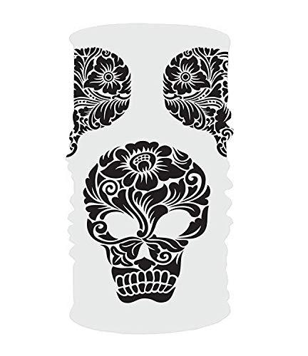 Yesliy Stirnband mit Totenkopf-Motiv, Sport-Schweißband, Yoga, für Männer und Frauen