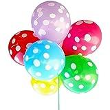 100 pz 12 pollici misto colore palloncini in lattice Round Dot stampato spessore grande rotondo decorazione per matrimonio compleanno festa colore...