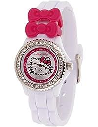 Hello Kitty Mädchen-Armbanduhr Analog Quarz Weiß BHK018