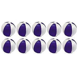 eBuyGB - Pack de 10 Bolas de Colores inflables para Juegos de Piscina de Playa, Color Morado, 22 cm
