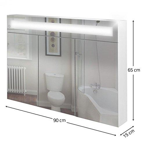 Homelux Badspiegelschrank Beleuchtet, inkl. Leuchtmittel, in Verschiedenen Größen