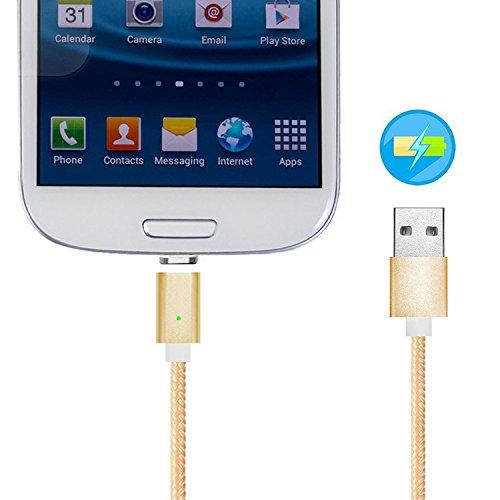 First2savvv 2 x argento 2 in 1 Cavo Lightning & micro USB con calamita. Connessione magnetica per telefono cellulare Android & Apple iPhone 7 6S/6 Plus, iPhone 5S/5C/5, iPad Pro/Air 2, iPad Mini 4, Sa 1 x oro CTX-SA-15