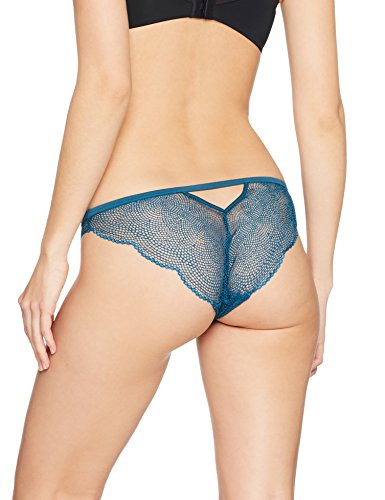 Iris & Lilly  Slip Sheer Sexy in Pizzo Donna Blu (Teal)