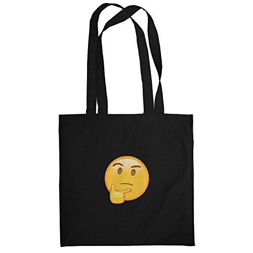 Texlab–thinking Emoji–sacchetto di stoffa Nero
