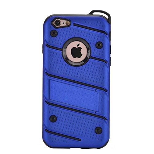 GR PC + TPU Dual Layer Hybrid Rüstung Schutzhülle Shockproof Bumper Case mit Ständer für IPhone 7/8 ( Color : Blue ) Blue