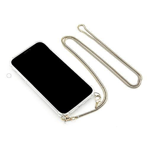 """MARIEHR FEEL.LIFE Handyhülle Necklace kompatibel mit iPhone 7/8 für 4,7\"""" Display, Handykette zum Umhängen mit Metall-Kette in Farbe Gold"""