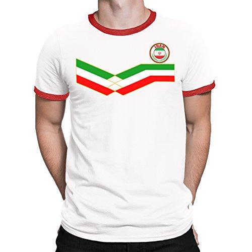 Tee Spirit Iran Camiseta Para Hombre World Cup 2018 Fútbol New Style Retro 51ee65b50